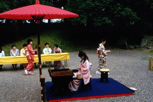 玄宮園での茶会